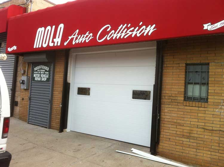 Castleton, Staten Island White Steel Insulated Overhead Door
