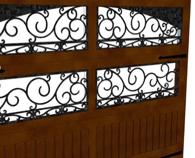 ornamental iron garage doors