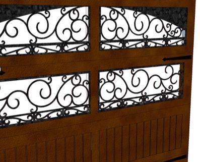 ornamental iron garage doors