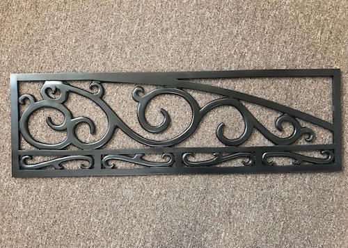 iron ornamental garage door designs