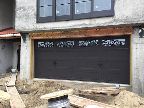 Wrought Iron Garage Door Installation