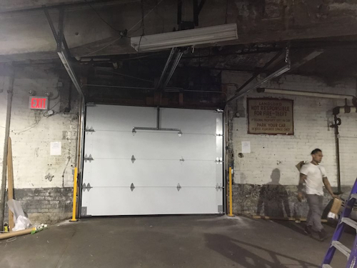 commercial parking garage door