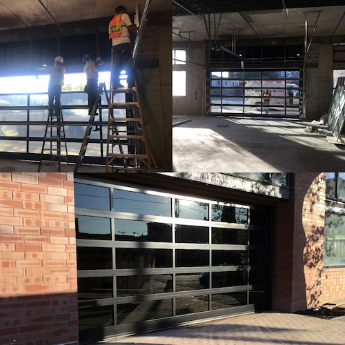 Large Commercial Garage Door