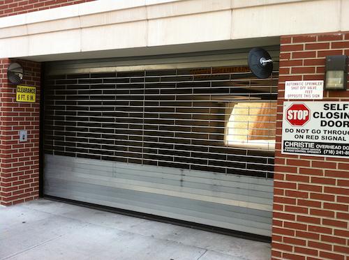 apartment complex garage door