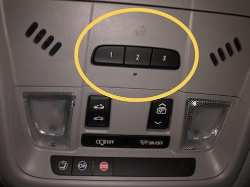 car garage opener buttons